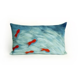 "Fish Pond Throw Pillow (12"" x 20"")"