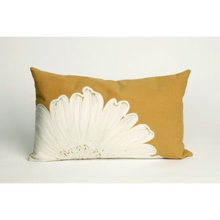 "Embossed Flower Throw Pillow (12"" x 20"")"