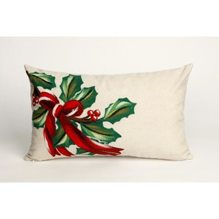 "Holly Bough Throw Pillow (12"" x 20"")"