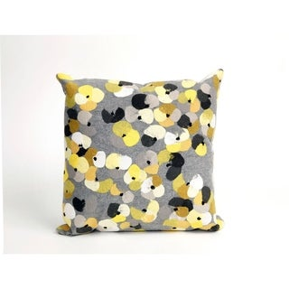 Flower Bed 20-inch Throw Pillow