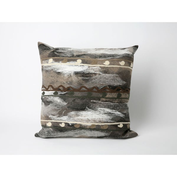 Painterly Stripe 16-inch Throw Pillow