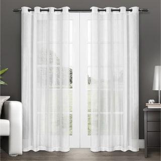 ATI Home Penny Sheer Grommet Top Curtain Panel Pair