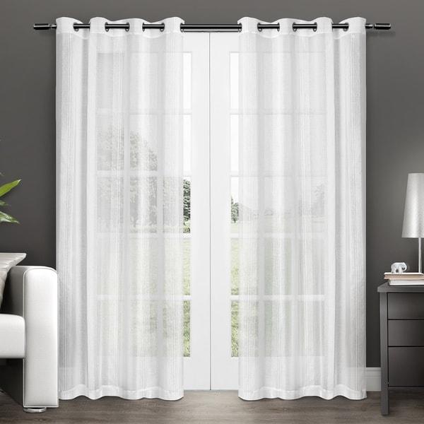 Penny Grommet Top Sheer Curtain Panel Pair