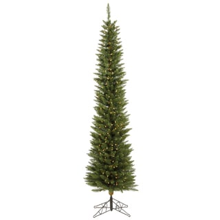 """5.5' x 18"""" Durham Pole Pine Tree with 150 LED Frosted Italian Lights"""