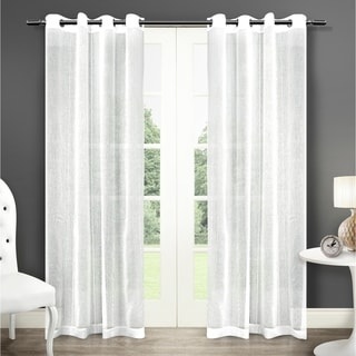 Sabrina Grommet Top 96-inch Sheer Curtain Panel Pair