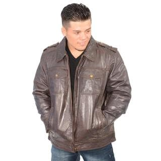 Men's Cow Jumble Jacket with Antique Silver Zipper