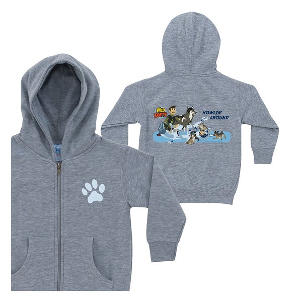 Wild Kratts Howlin' Around Grey Zip-up Hoodie