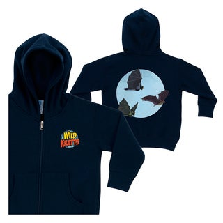 Wild Kratts Bat Power Navy Zip-up Hoodie
