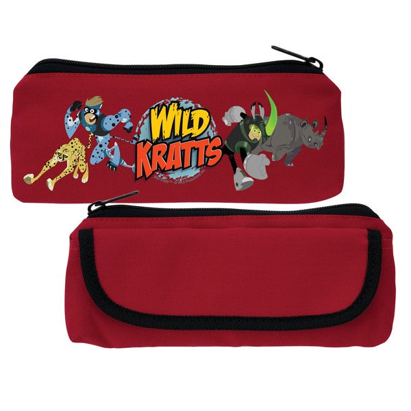 Wild Kratts Creature Adventure Red Pencil Case