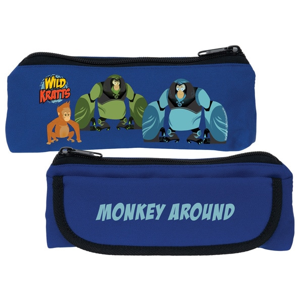 Wild Kratts Monkey Around Blue Pencil Case