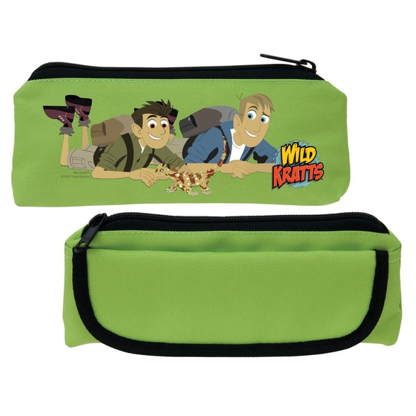 Wild Kratts Lizard Friend Green Pencil Case