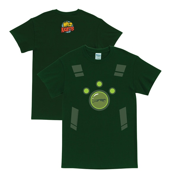 Wild Kratts Creature Power Suit Forest Green Adult T-Shirt