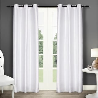 Dupioni Grommet Top 84-inch Curtain Panel Pair