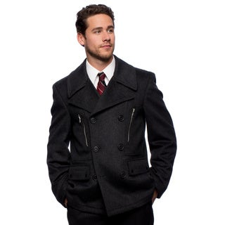 "West End Young Men's ""Willard"" Charcoal Double Breasted Pea Coat"