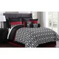 Anton 11-piece Flocking Comforter Set Bed in a Bag