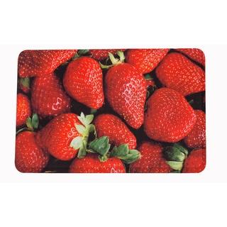 "Somette Strawberries Memory Foam Anti-fatigue Comfort Mat (18"" x 30"")"