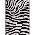 Well Woven Malibu Contempo Zebra Black Tan Modernt Rug (8'2'' x 9'10)