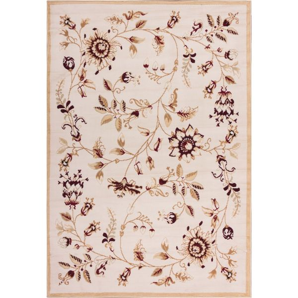 "Well Woven Malibu Floral Gold Beige Rug (8'2"" x 9'10)"