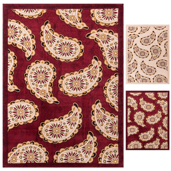 Well Woven My Home Soft Value Modern Paisley Bold Rug (3'3 x 5'3)