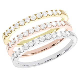 Sterling Silver 1/4ct TDW Diamond Eternity Band