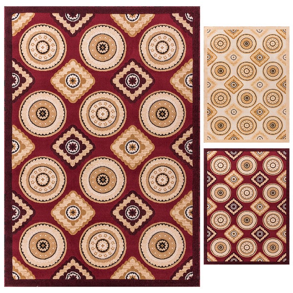 Well Woven My Home Soft Value Formal Dune Pinwheel Rug (5' x 7'2)