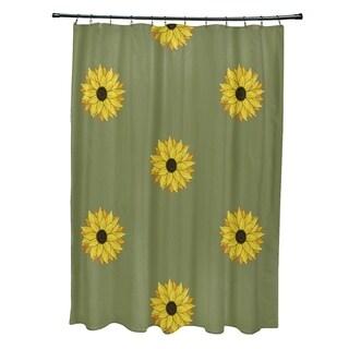"Sunflower Frenzy Flower Print Shower Curtain (71"" x 74"")"