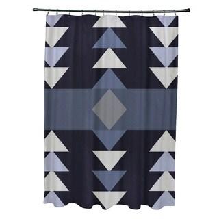 "Sagebrush Geometric Print Shower Curtain (71"" x 74"")"