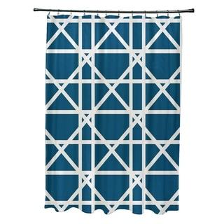 "Trellis Geometric Print Shower Curtain (71"" x 74"")"
