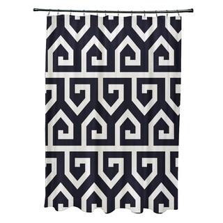 "Keyed Up Geometric Print Shower Curtain (71"" x 74"")"