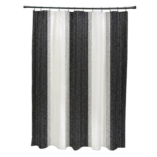 "Striate Stripe Stripe Print Shower Curtain (71"" x 74"")"