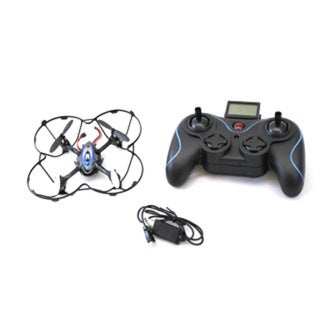 DimpleChild 6 Axis Gyro Radio Controlled Black and Blue Quadcopter