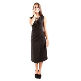 Hadari Women's Asymmetrical Closure Sheath Dress