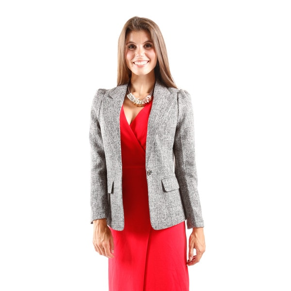 Hadari Women's Long Sleeve One Botton Blazer