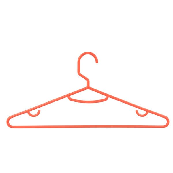 Honey Can Do Orange Plastic Tubular Hangers (Pack of 60)