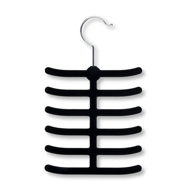 Honey Can Do Black Flocked Tie Hanger (Pack of 20)
