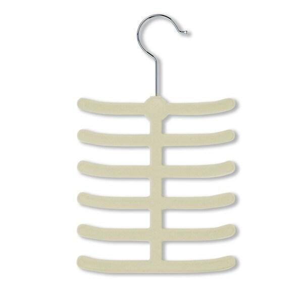Honey Can Do White Flocked Tie Hanger (Pack of 20)