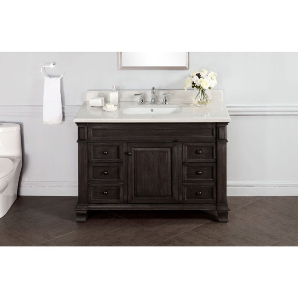 Kingsley 48-inch Marble Top Vanity with Backsplash
