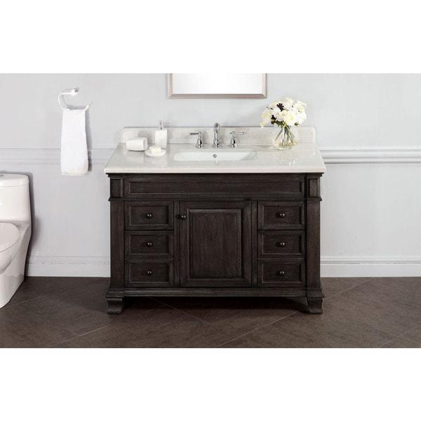 Kingsley 48-inch Marble Top Vanity with Backsplash