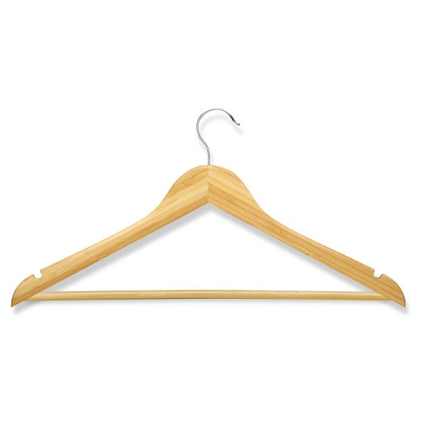 Honey Can Do Bamboo Wood Hangers (Pack of 8)