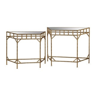 Danya B Set Of 2 Nested Round End Tables With Black