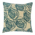 Pillow Collection Inc. Down Filled 18-inch Floral Designer Throw Pillow-Multiple Patterns available