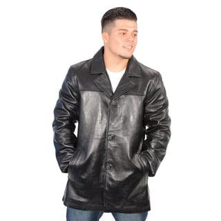 Men's Lambskin Leather Classic Four Button Jacket