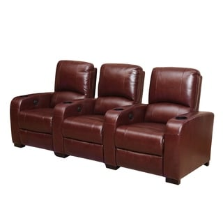 Abbyson Living Jackson Burgundy Power Media Recliners