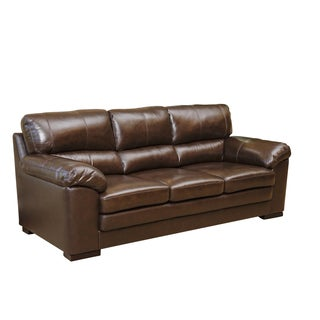 Abbyson Living Concord Top Grain Leather Sofa