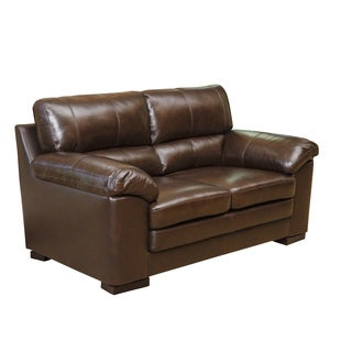 Abbyson Living Concord Top Grain Leather Loveseat