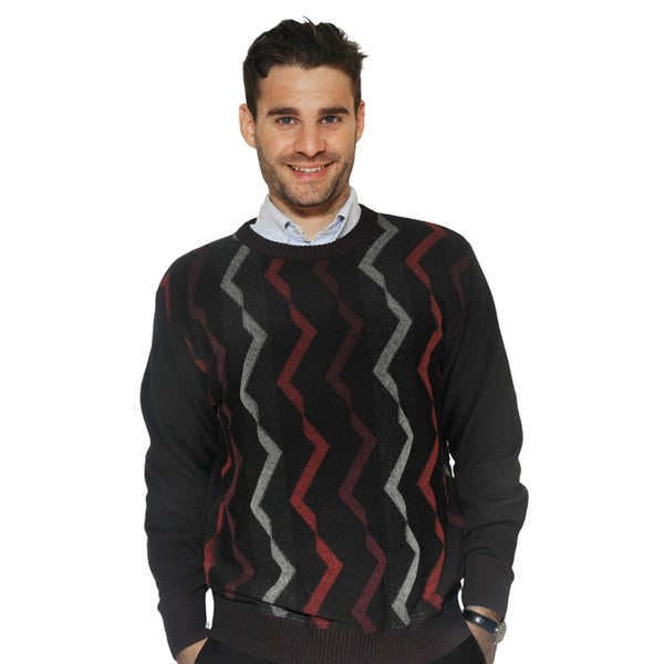 Tosani Men's Pure Cotton ZigZag Sweater