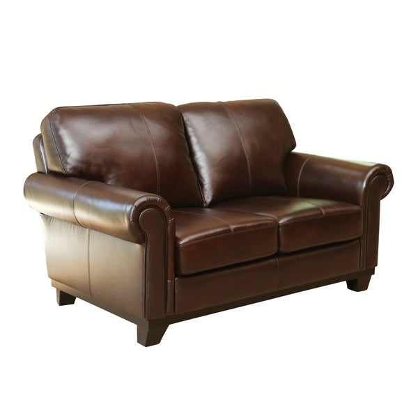 Abbyson Living Hamilton Top-Grain Leather Loveseat