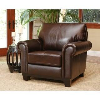Abbyson Living Hamilton Top-Grain Leather Armchair