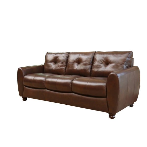 Abbyson Living Underwood Top-grain Leather Sofa