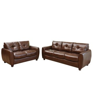 Gentil Review Detail Abbyson Living Underwood Top Grain Leather Sofa And Loveseat